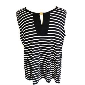 Tommy Hilfiger Black and White Stripe Top Size XL
